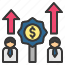 auction, bid, competition, offer, process icon