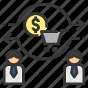 commerce, customer, exchange, trade, transfer icon