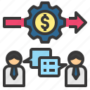 business, collaborate, deal, money, trade icon