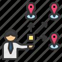 branch, distribution, location, supplier, vender icon