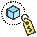 cost, goods, price, sale, tag icon