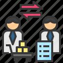 business, commerce, exchange, procurement, transfer icon