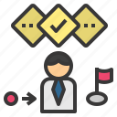 plan, procedure, process, strategy, tactic icon