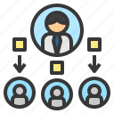distribute, divide, provider, supplier, vender icon
