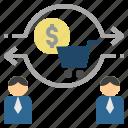 commerce, customer, exchange, trade, transfer
