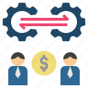 business, commerce, exchange, relationship, trade icon
