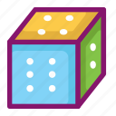 dice, ecommerce, gambling, game, hobby, shopping, toys icon