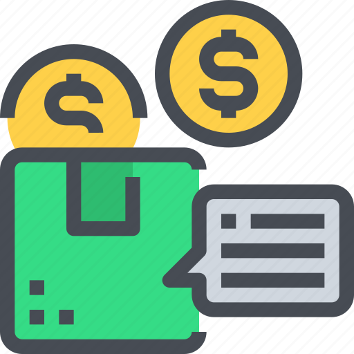 box, delivery, package, payment, product, shipping icon