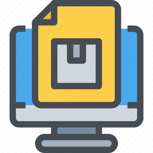 box, computer, delivery, order, product, shipping, shopping icon