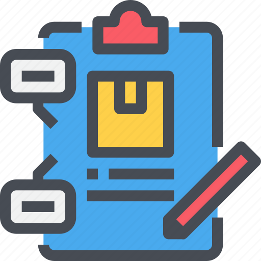 box, clipboard, delivery, document, order icon