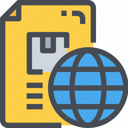 box, delivery, document, file, global, package icon