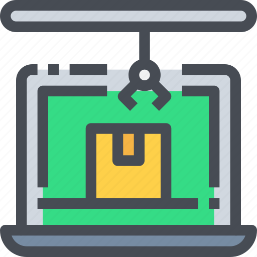 box, computer, delivery, package, product, shipping icon