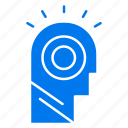 hat, idea, light, man icon