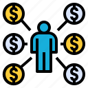 business, buyer, coin, consumer, customers, money icon