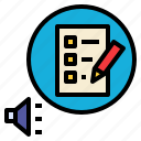 announce, define, defining, determine, identify, list, rules icon