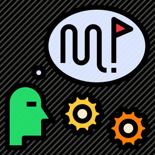 plan, plot, roadmaps, strategic, think icon
