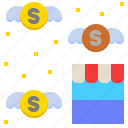 business, commercial, financial, money, shop icon