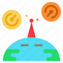 explorer, network, radar, remote, signal icon