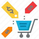 cart, discount, price, sales, shop, shopping icon