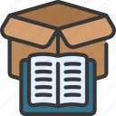 product, stories, business, book, story icon
