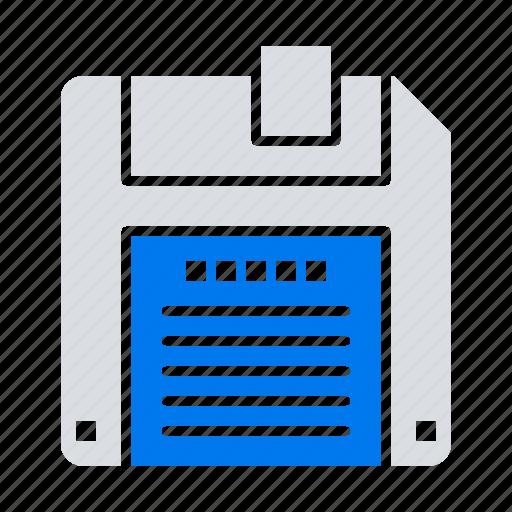 diskette, floppy, save icon