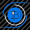 bitcoin, bitcoins, blockchain, cryptocurrency, decentralized icon