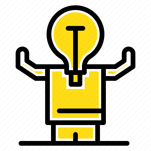 business, improvement, man, person, potential icon
