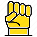 freedom, hand, human, power, strength icon