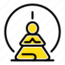 concentration, meditation, mental, mind icon