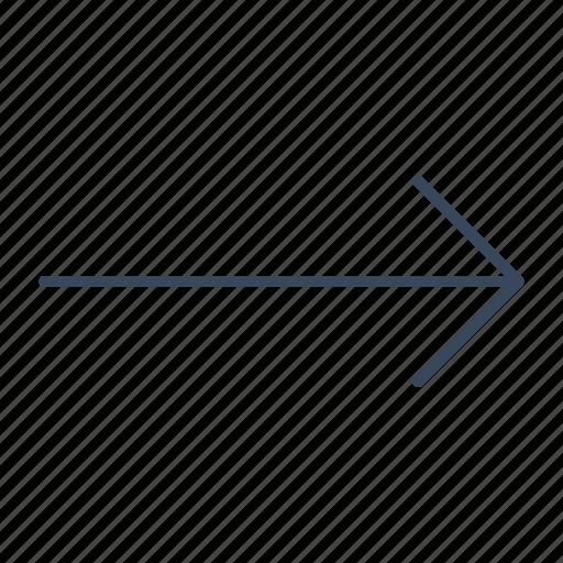 arrow, direction, move, right, slip icon
