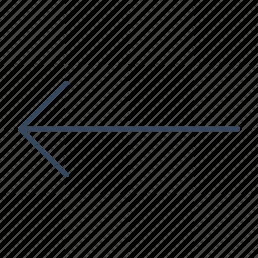 arrow, left, slip icon