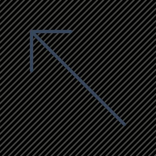 arrow, direction, left, northwest, slip, top, up icon