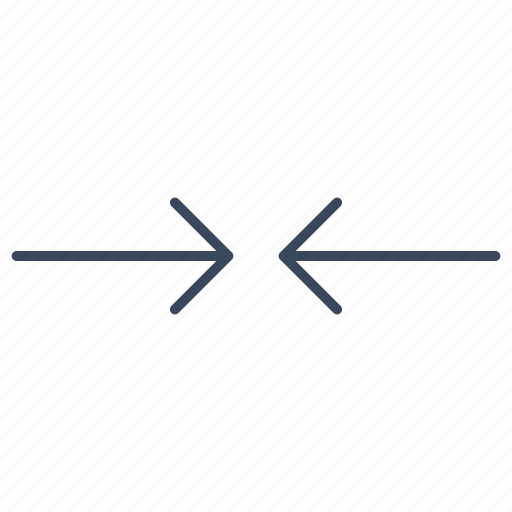 arrow, decrease, move, slip icon
