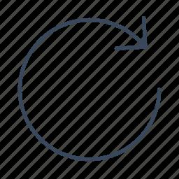 arrow, audio, refresh, repeat icon