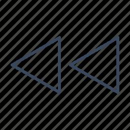 arrow, arrows, direction, previous icon