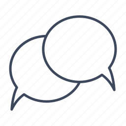 bubbles, chat, conversation, talk icon