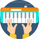 device, equipment, instrument, music, piano, play, tool icon