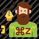 avatar, character, designer, graphic, man, occupation, profession icon