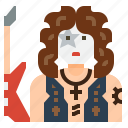 avatar, character, guitar, guitarist, job, music, musician icon
