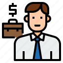 avatar, business, businessman, character, man, salesman icon