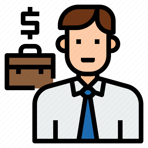 avatar, business, businessman, character, man, salesman icon