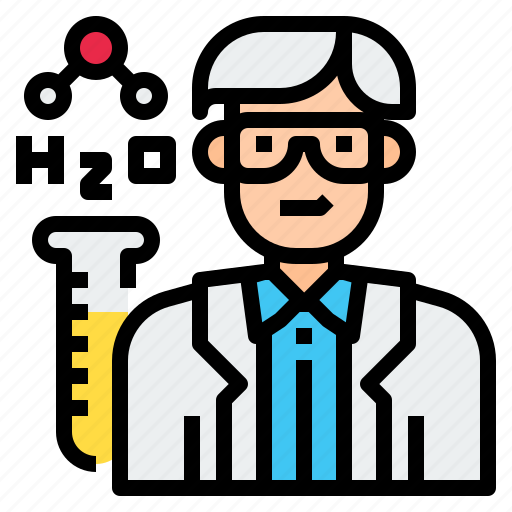 avatar, character, chemist, man, medical, profession, research icon