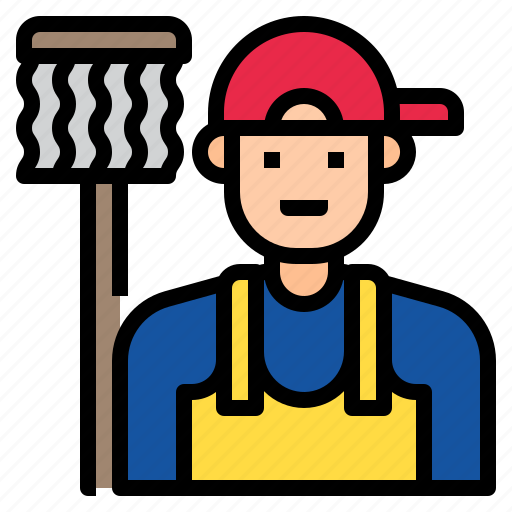 avatar, business, character, cleaner, cleanser, worker icon