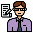 avatar, character, clerk, employee, job, office, profession icon