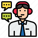 assistant, avatar, character, customer service, help, job, operator icon