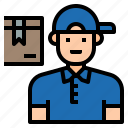 avatar, character, delivery, job, man, post, profession icon