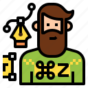 avatar, character, designer, graphic, man, occupation, profession icon