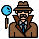 avatar, character, detective, man, occupation, profession, spy icon