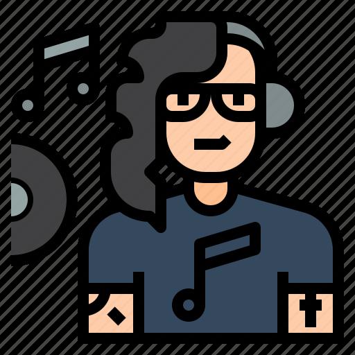artist, avatar, character, disc jokey, dj, job, occupation icon