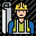 civil, supervisor, engineer, avatar, industry, construction, architect icon